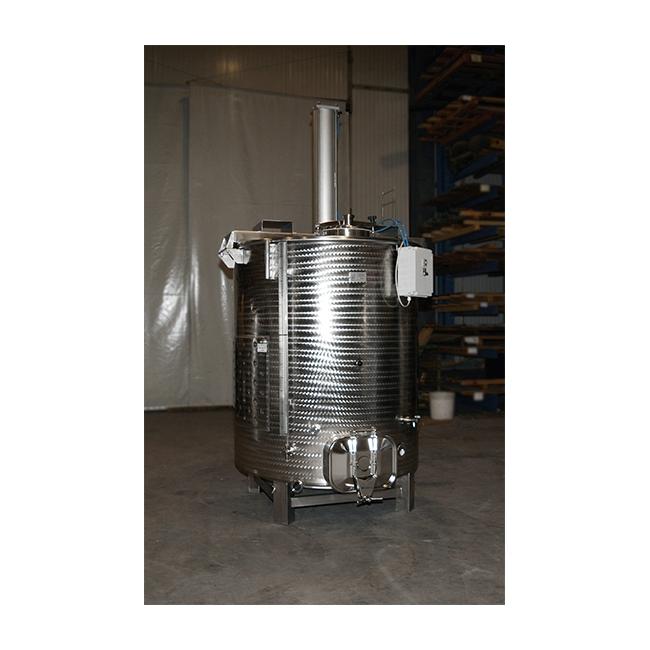 Odprta drozgovna posoda s premičnim cilindrom